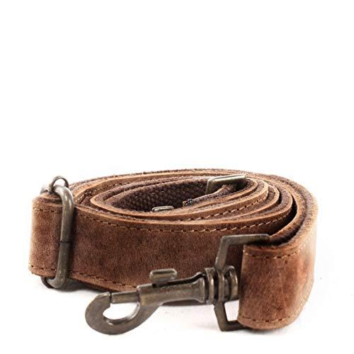 LECONI Trageriemen Leder breiter Schulterriemen Tragegurt für Damentaschen und Herrentaschen längenverstellbar Echtleder 150cm braun 3x150cm vintage braun LEC-R5