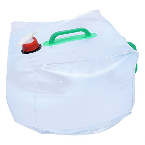10L/20L Plegable Bolsa de Agua portátil Transparente Recipiente para Agua Durable Gran...