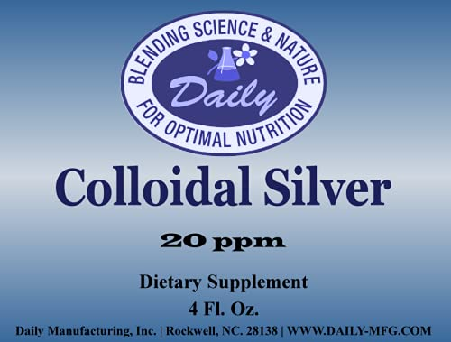 Daily Manufacturing Colloidal Silver 20 ppm 4 Fl. Oz.