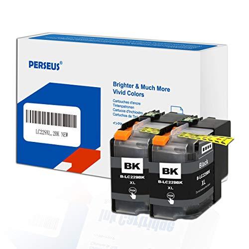 PERSEUS Tintenpatronen Kompatibel für Brother LC229XL Schwarz, Arbeiten mit MFC-J5320DW MFC-J5620DW MFC-J5625DW MFC-J5720DW Drucker, LC229XLBK Hohe Ausbeute Druckerpatronen,BK mit 2