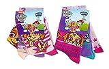 Nickelodeon Paw Patrol H&e Skye & Everest Socken für Kinder, Mädchen, 6 Paar Strümpfe verschiedene Motive & den Farben rosa, pink, lila, (23/26)