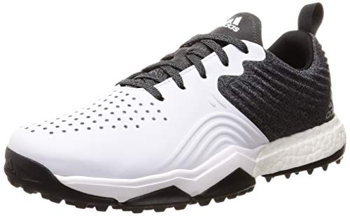 adidas Herren Adipower S4 Golfschuhe, Schwarz (Negro/Blanco/Plata B37173), 45 1/3 EU