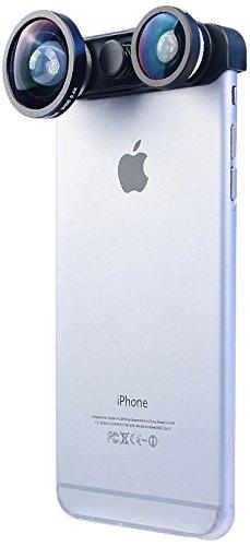 Apexel Camera Lens Kit voor iPhone 6 Plus 3 in 1 Lens 0.4x Super Wide Angle Lens+ Fish Eye Lens + Macro Lens
