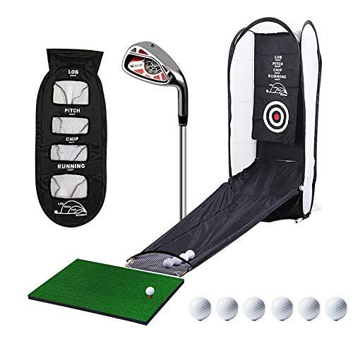Red de bateo de golf plegable, práctica portátil de astillado en interiores Ayudas para el entrenamiento de objetivos con varilla de empuje Objetivo de bola, para entrenamiento de juegos en el patio