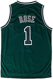 Wo nice Uniformes De Baloncesto para Hombres 165~170CM Minnesota Timberwolves # 25 Derrick Rose Camisetas De Baloncesto Tops Deportivos Chalecos Camisetas Sin Mangas,Negro,S