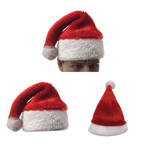 chiwanji 1/6 Gorro de Navidad Gorro de Santa para Figuras de Acción de 12 Pulgadas Ttl Enterbay