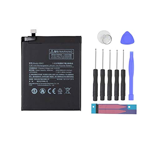 Pattaya BN31 Batería compatible con Xiaomi MI 5X batería MI A1 batería Note 5A batería Xiaomi Redmi S2 batería Redmi S2 batería kit de repuesto