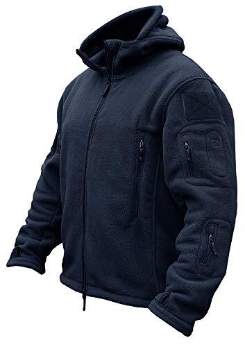 TACVASEN Men's Tactical Fleece Jacket (US 2XL,Navy)