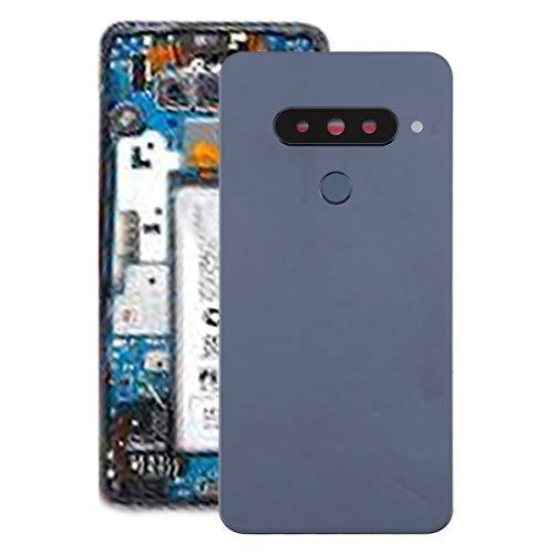 YIHUI Repare Repuestos Batería Cubierta Trasera con Sensor de Lente de la cámara y de la Huella Digital for LG G8s Thinq Partes de refacción (Color : Silver)