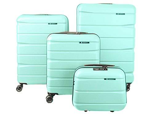 Franky 4er Kofferset Hartschalenkoffer Spnner mit TSA-Schloss Mint