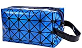 CDYEGSJ PU de Las Mujeres Constituyen el Maquillaje de la Manera del Bolso del Organizador del Recorrido Bolso cosmético Profesional Case Maleta Neceser de Belleza Bolsa Bolsas (Color : Blue)