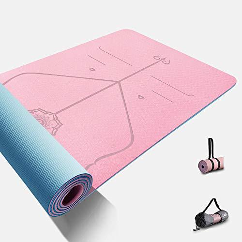 mengzhifei Alfombrilla de yoga Tpe de 80 cm de ancho para yogamat ensanchada y larga para fitness