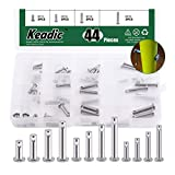 Keadic 45Pcs Clevis Pin Assortment Kit 304 Stainless Steel, including 12 Different Sizes Metric - M3 M4 M5