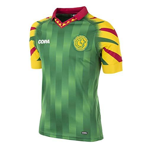 Copa Herren Kamerun Fußballtrikot Fußballkragen T-Shirt XL grün