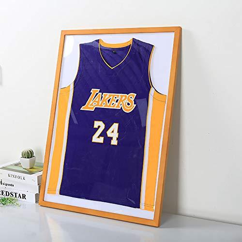 Basketball-Triko-Rahmen, Schaukasten mit 98% UV-Schutz, Jersey-Vitrine mit großem Rahmen, für Baseball/Fußball/Basketball/Hockey/Fußball/Jersey, 11–60 cm x 90 cm