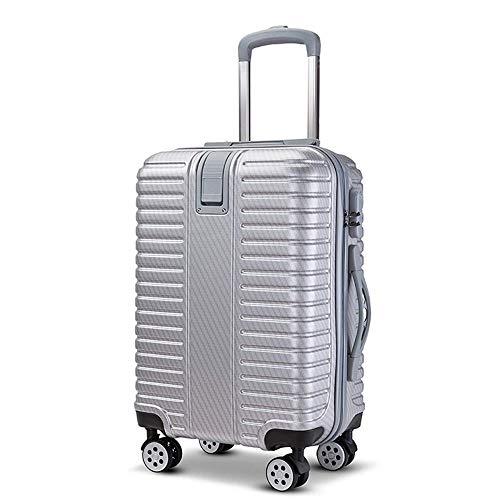 GXWLWXBB Business Einfacher Trolley, ABS + PC Vertical Stripe Zipper Passwort Caster Koffer, 20, 24 Inches (Size : 20inch)