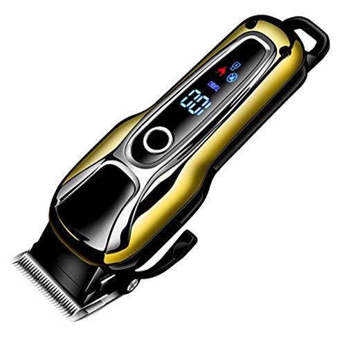 YFQHDD Eléctrica cortadora de Cabello Profesional Hombres de Trimmer LCD eléctrica cortadora de Cabello Navaja de Afeitar eléctrica