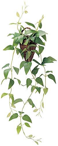 ケーアイジャパン インテリアグリーン 造花 観葉植物 光触媒 フェイクグリーン クレマチス 壁掛け 60cm (かわいい 籐ポット入り)