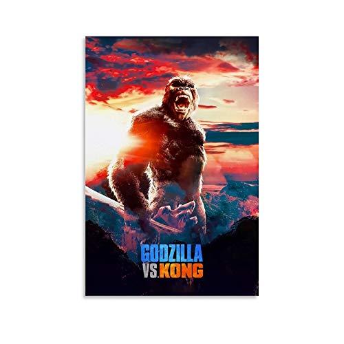DRAGON VINES Godzilla Vs. Kong Orangutan - Lámina decorativa abstracta para pared (20 x 30 cm)