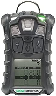 MSA 10107602 ALTAIR 4X Gas Detector, Charcoal, LEL, O2, CO, H2S