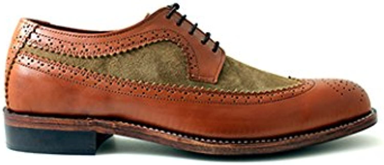 TAAVETTI Men's Formal Brown Handmade Leather Opal Brogue shoes
