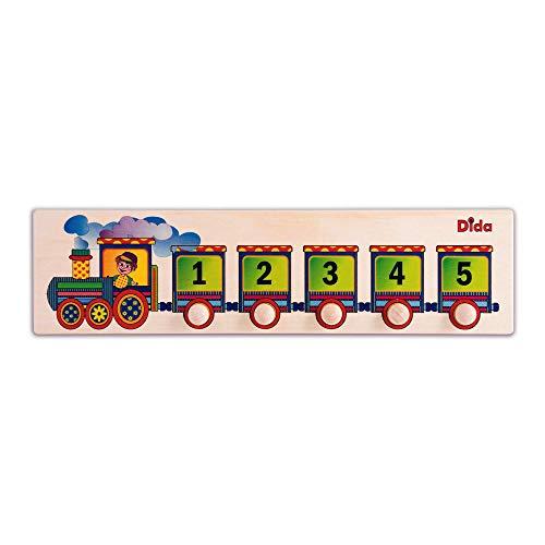 Dida - Puzzles secuencias - Treno - Rompecabezas de Madera para niños