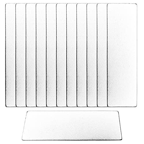 ECENCE Imanes de neodimio 12 Piezas - Imanes quadrado autoadhesivos - 40x12x1mm - Recubrimiento NiCuNi Imanes quadrados