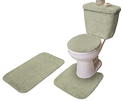 Madison Industries 5 Piece Bath Rug, Contour, LID, Tank LID & Tank Cover Set