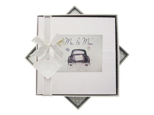 White Cotton Cards Wedding Day Album Taille M (voiture)