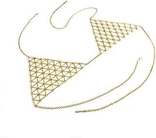 FemNmas Silver Metal Simple Bra Chain Jewellery