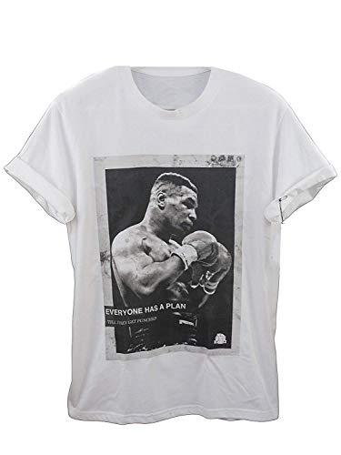 Actual Fact Mike Tyson Jeder Hat EIN Plan Vintage Hip Hop Weißes T-Shirt - Weiß, L
