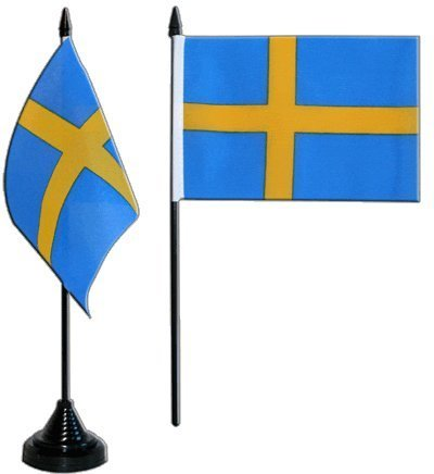 Sverige bordsflagga 10 x 15 cm