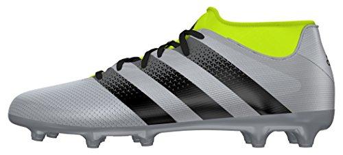 adidas Ace 16.3 Primemesh FG/AG, Scarpe da Calcio Uomo, Plateado (Plamet/Negbas/Amasol), 42 2/3