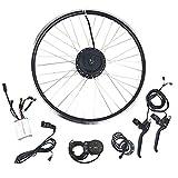 CARLAMPCR Kit de conversión de Bicicleta eléctrica 36 V 500 W, Controlador de Doble Velocidad Mejorado de Rueda Delantera de 24'26', con Pantalla LCD,24INCH