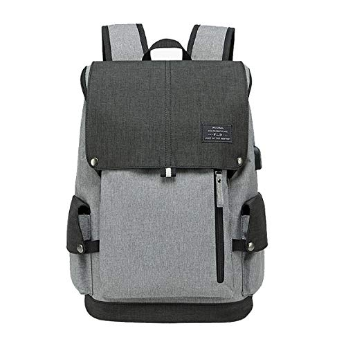 Backpack Men Women Laptop Backpack USB Charging Port School Backpack Laptop Hand Luggage Business Backpack Daypack with 15.6 Inch Laptop Compartment