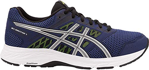 ASICS Men's Gel-Contend 5 Running Shoes, 10.5M, Indigo Blue/Silver