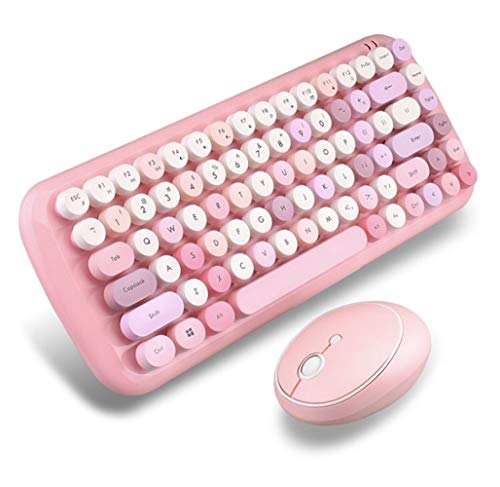 Wireless Keyboard Mouse Set Keycap Manipulator Sense Office Typing Special Notebook Desktop Universal (Color : B)