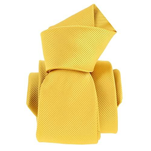Clj Charles Le Jeune. Cravate. Jaune poussin, Microfibre. Jaune, Uni.