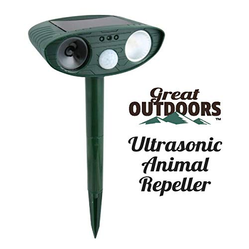 Great Outdoors Ultrasonic Animal Repeller - Eco-Friendly and Waterproof Solar Repellent with Sound