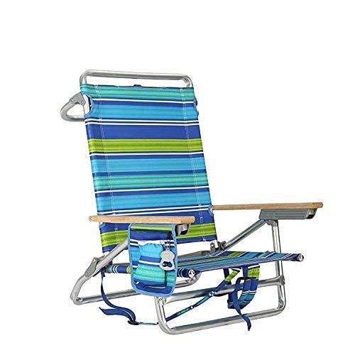 Silla De Playa Aleación De Aluminio Plegable Reclinable Al Aire Libre Plegable Almuerzo Descanso Reclinable Camping Portátil Ocio Silla Portátil Portátil