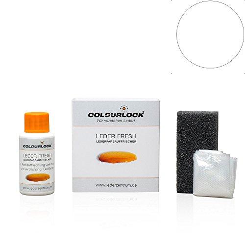 COLOURLOCK® Leder Fresh Tönung Mini 30 ml F-Standard-Farbe F033 Weiss (Lederfarbe, Farbauffrischung), beseitigt Schrammen, Ausbleichungen und Abnutzung an Leder und Kunstleder