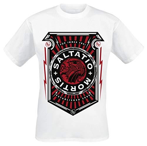 Saltatio Mortis Arrow Frame Männer T-Shirt weiß L 100% Baumwolle Band-Merch, Bands, Nachhaltigkeit