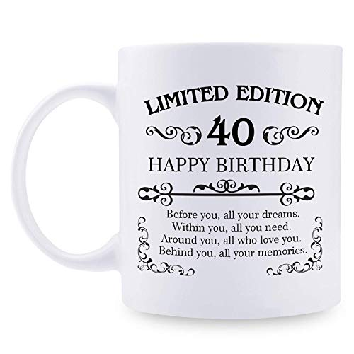 40.osregalosdecumpleañosparamujeresyhombres-Tazadecaféde11oz-Ideaspararegalosde40añosparamamá,papá,esposa,esposo,hijo,hija,amigo,colega,compañerodetrabajo(40.