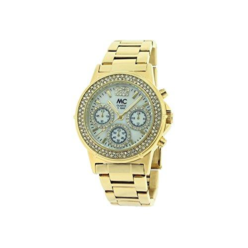 MC - Timetrend Damen Analog Quarz Uhr mit Messing Armband 27693