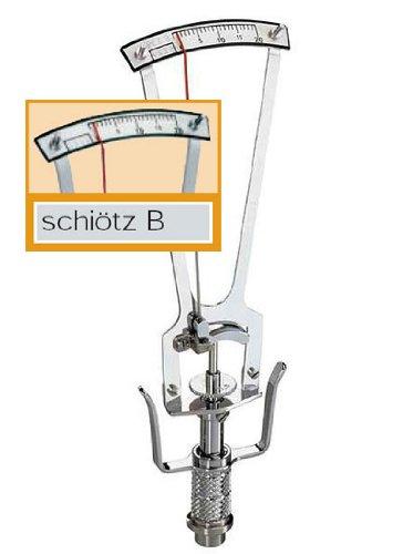 Riester 5111 Augentonometer, schiötz B mit schräger Skala, Silber