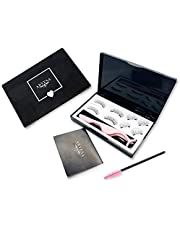 False Magnetic Eyelashes Without Eyeliner Full Set The Best Fake Eye Lashes Magnet - Dual Magnets no Liner Needed - Natural Look   No Glue, Reusable (Accents + Full Size)