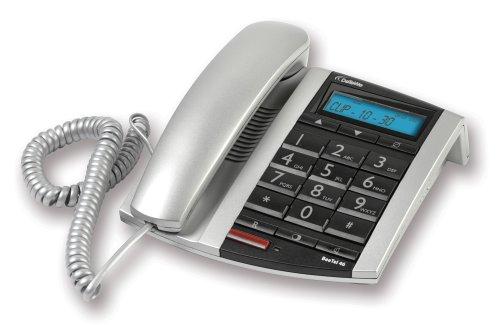 DeTeWe BeeTel 46, Schnurgebundenes analoges Komfort-Telefon mit extra großen Tasten und großen Ziffern im Display