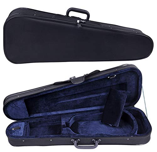 Aileen Basic Professional Triangular Lightweight Suspension Carry Violin Hard Case - 4/4 Full Size Black
