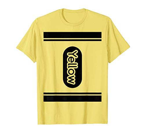 Yellow Crayon halloween costume t shirt couple friend group T-Shirt