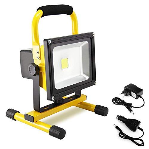 Dersoy 30W Foco LED recargable Luz de trabajo, 2400LM portátil recargable luz de trabajo led IP65 Luz de inundación portátil a prueba de agua Foco LED Foco recargable para exteriores para obra, garaje